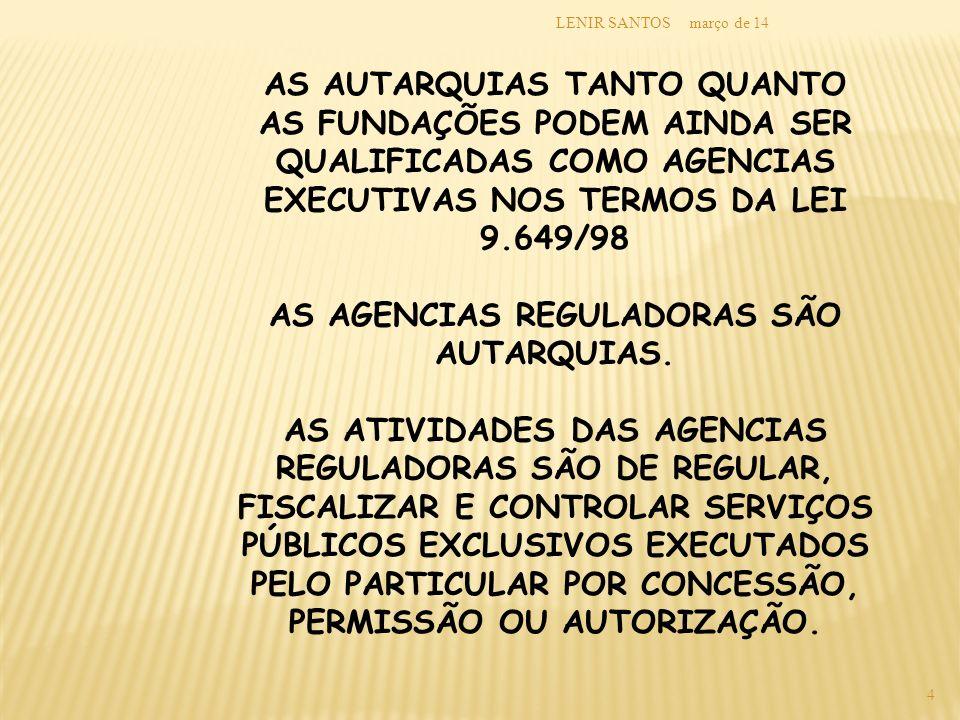 março de 14LENIR SANTOS 5 3.AGENCIAS EXECUTIVAS LEI N.