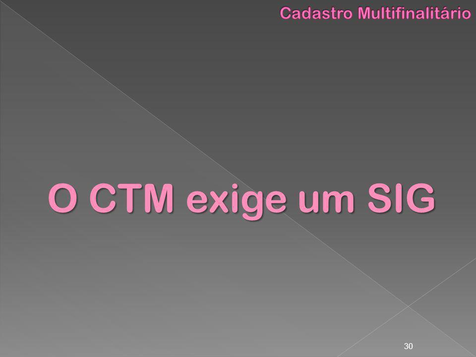 30 O CTM exige um SIG