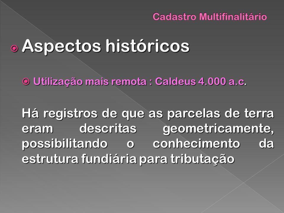 Aspectos históricos Aspectos históricos Utilização mais remota : Caldeus 4.000 a.c. Utilização mais remota : Caldeus 4.000 a.c. Há registros de que as