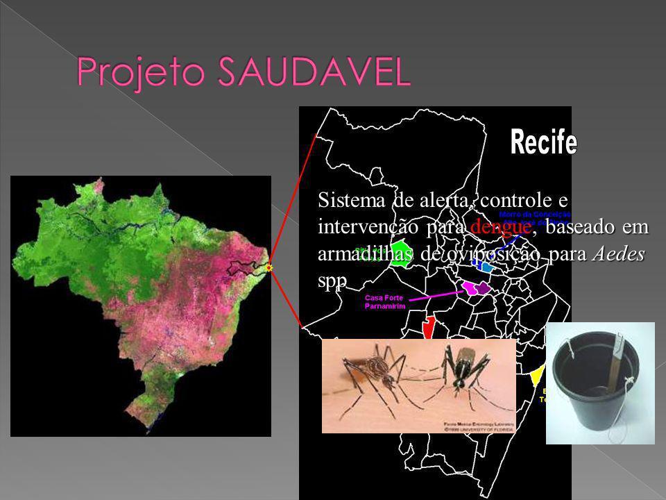 Sistema de alerta, controle e intervenção para dengue, baseado em armadilhas de oviposição para Aedes spp