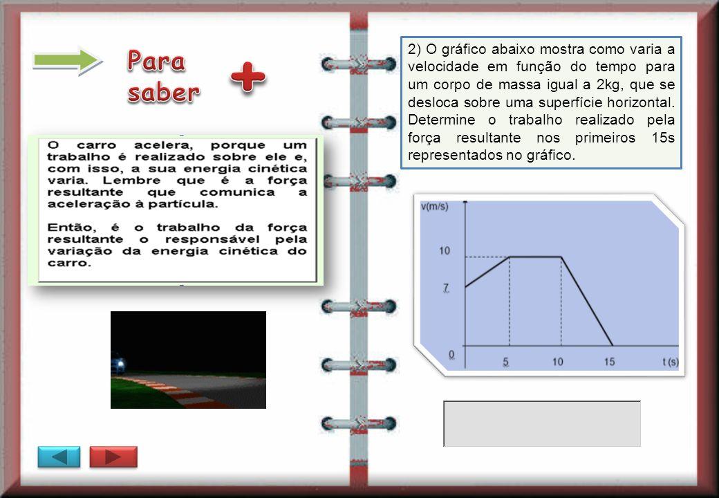 2) O gráfico abaixo mostra como varia a velocidade em função do tempo para um corpo de massa igual a 2kg, que se desloca sobre uma superfície horizontal.