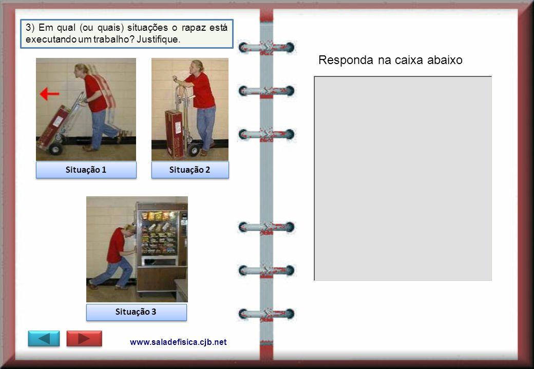 www.saladefisica.cjb.net 3) Em qual (ou quais) situações o rapaz está executando um trabalho.