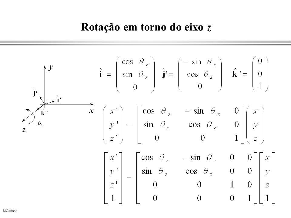MGattass Rotação em torno do eixo z x y z z