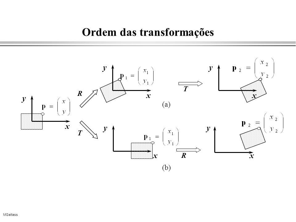 MGattass Ordem das transformações x y R x y T x y R x y x y T (a) (b)