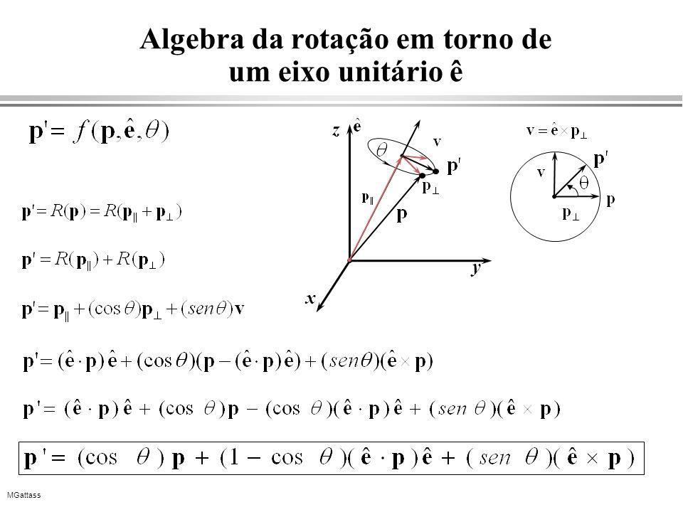 MGattass Algebra da rotação em torno de um eixo unitário ê x y z