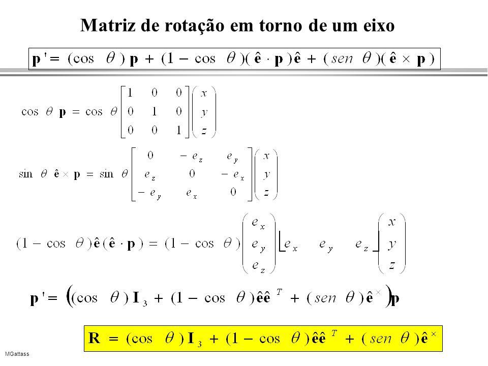 MGattass Matriz de rotação em torno de um eixo