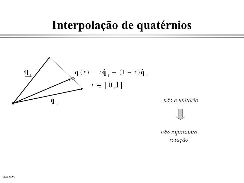 MGattass Interpolação de quatérnios não é unitário não representa rotação