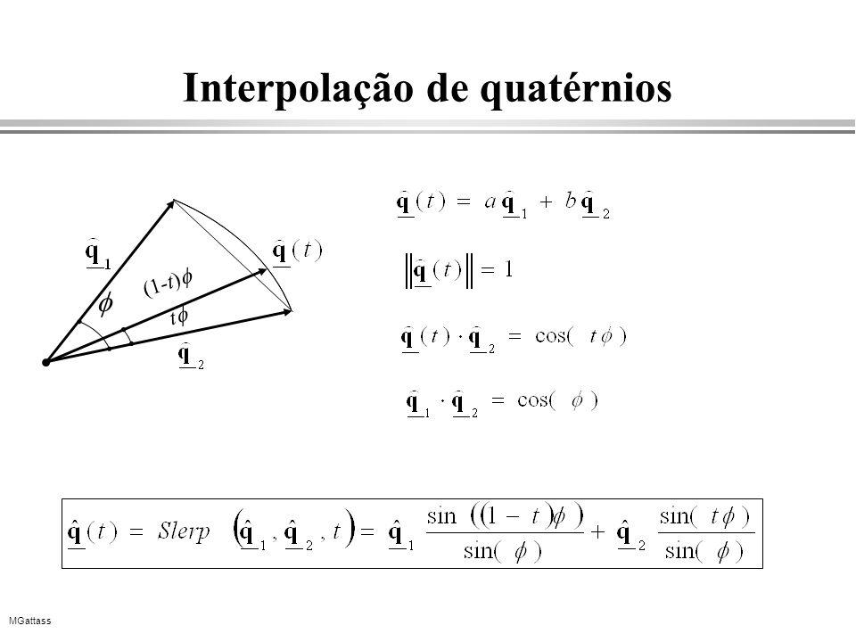 MGattass Interpolação de quatérnios (1-t) t