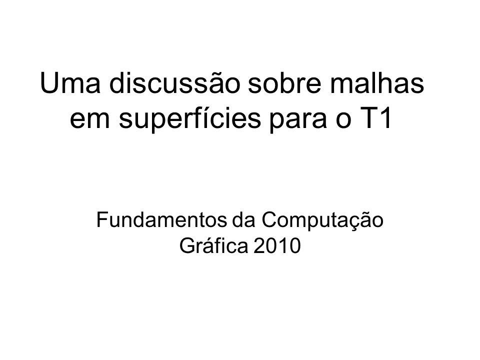 Uma discussão sobre malhas em superfícies para o T1 Fundamentos da Computação Gráfica 2010