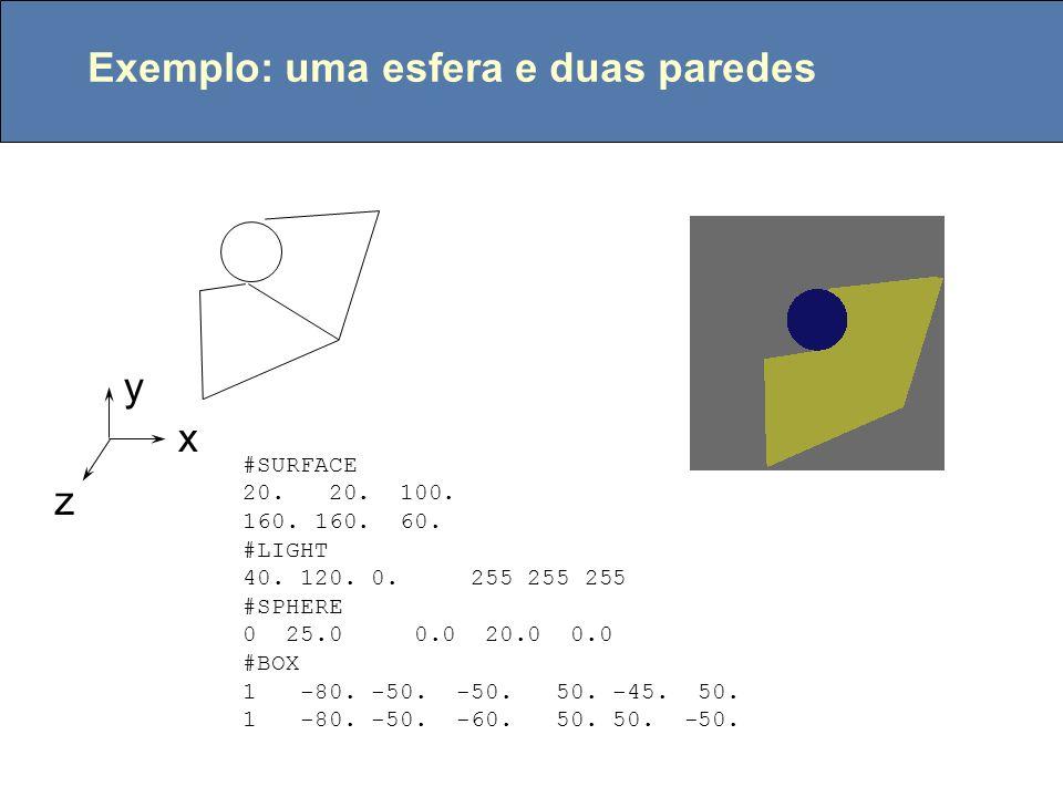 Interpolação com coordenadas baricêntricas V1V1 V2V2 V3V3 PiPi A3A3 A1A1 A2A2 ou: C1C1 C2C2 C3C3 U1U1 U2U2 U3U3