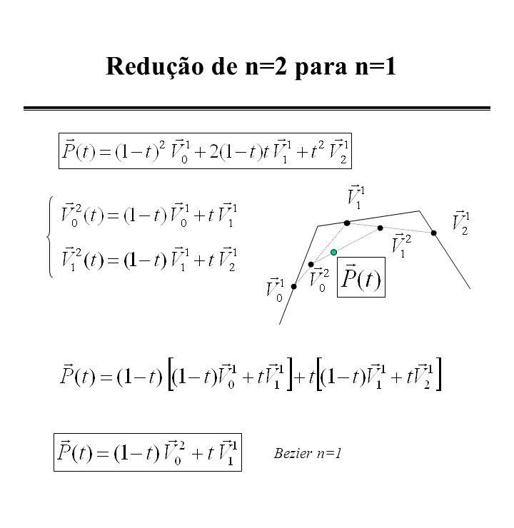 Cálculo de um Ponto (1-t) t Mostre que: