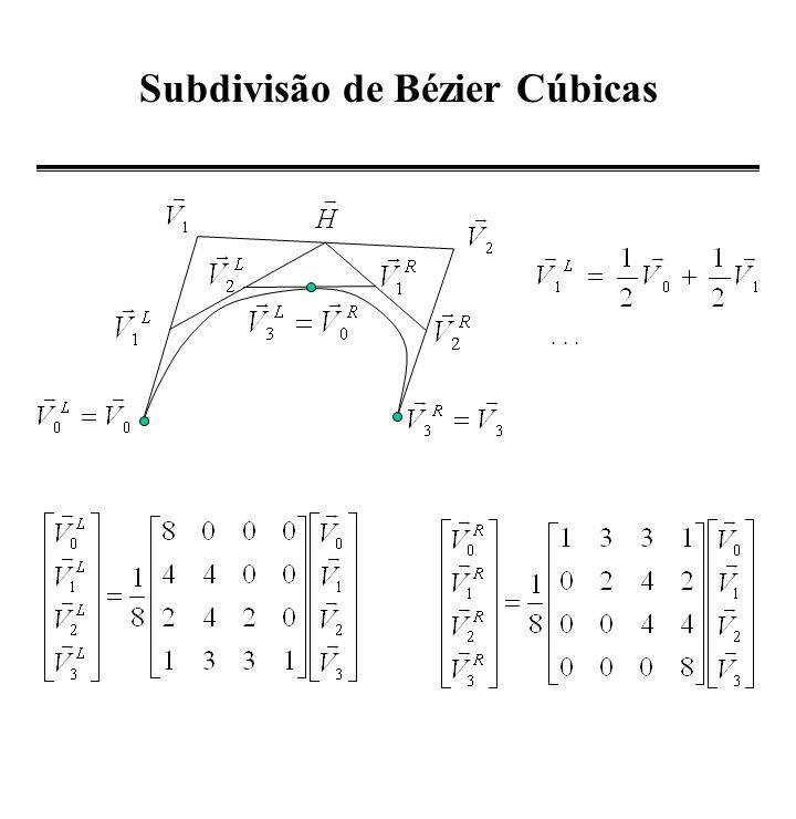 Construção de uma Bezier u=1/2 P(1/2)