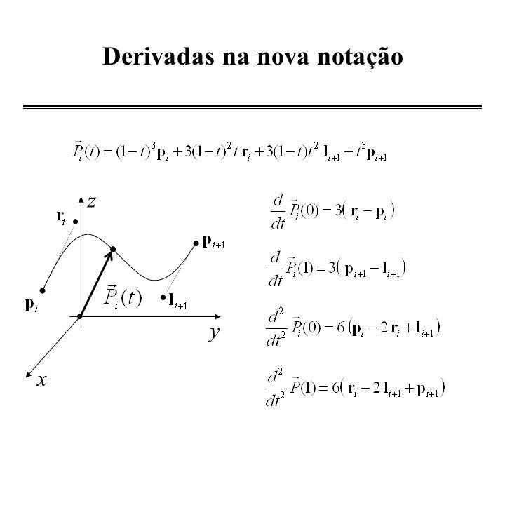 Construção de uma curva que passa por 2 pontos n=2