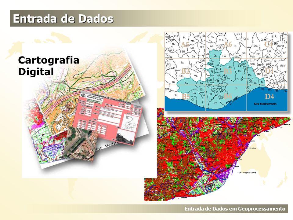 Entrada de Dados Entrada de Dados em Geoprocessamento Cartografia Digital