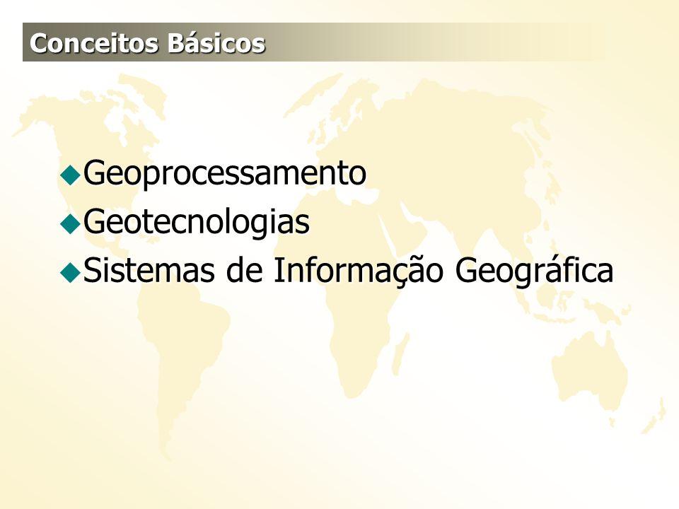 u Geoprocessamento u Geotecnologias u Sistemas de Informação Geográfica Conceitos Básicos