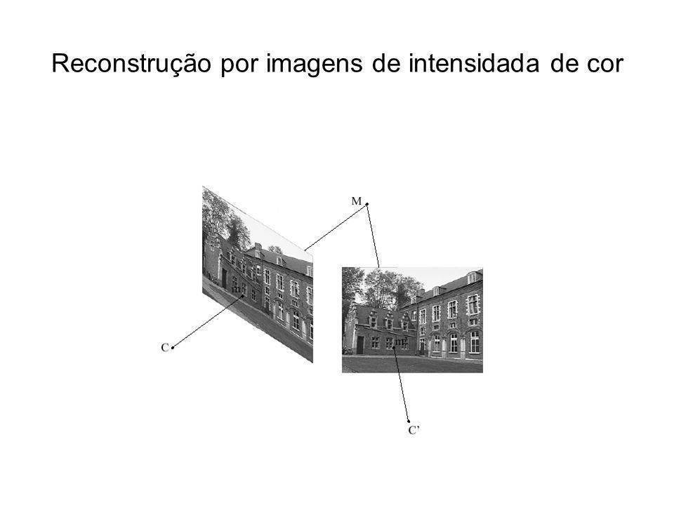 O problema de calibração de câmera –Ache [ K ] e [R T] –Dados pares de pontos [P] e [p] Padrões com pontos em posições conhecidas
