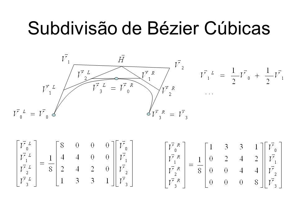 Subdivisão de Bézier Cúbicas...