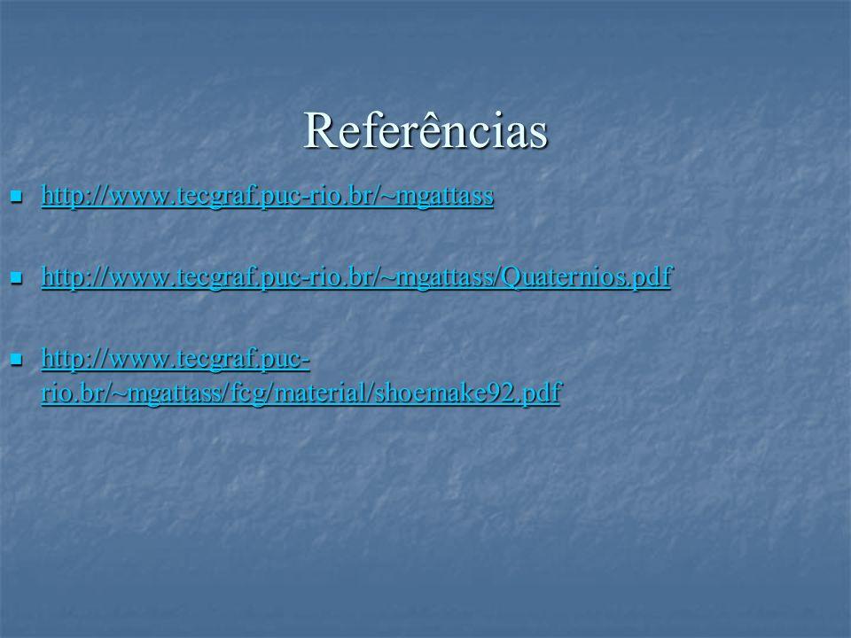 Referências http://www.tecgraf.puc-rio.br/~mgattass http://www.tecgraf.puc-rio.br/~mgattass http://www.tecgraf.puc-rio.br/~mgattass http://www.tecgraf