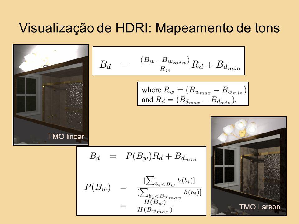 TMO linear TMO Larson Visualização de HDRI: Mapeamento de tons