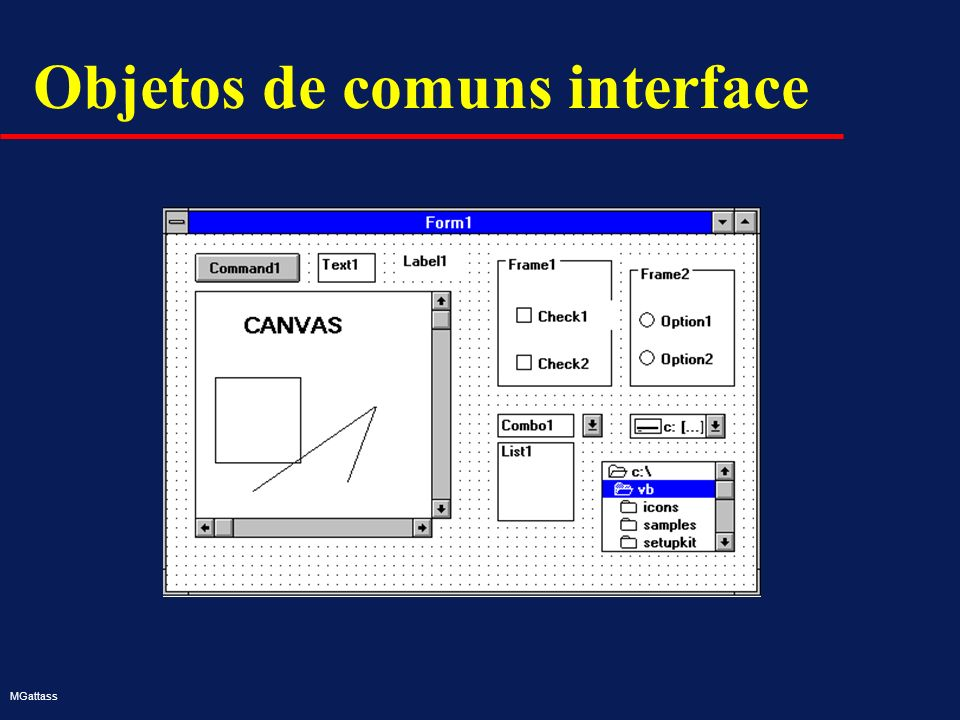 MGattass Objetos de comuns interface