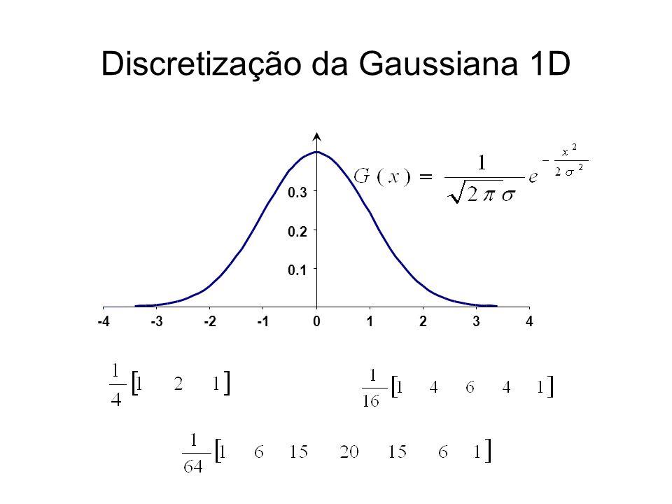Discretização da Gaussiana 1D 0.1 0.2 0.3 -4-3-201234