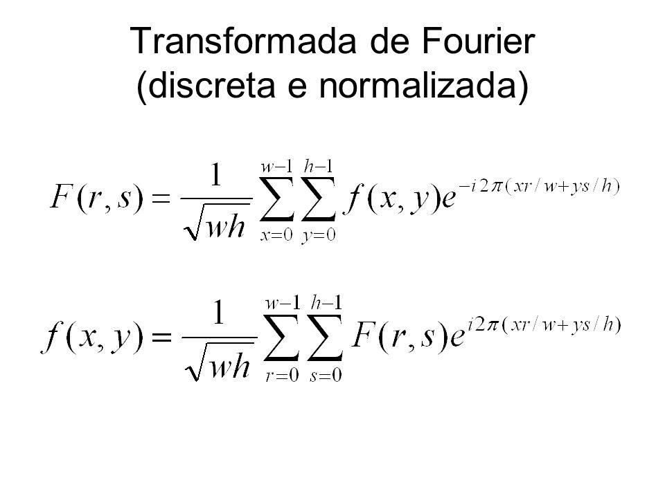 Transformada de Fourier (discreta e normalizada)