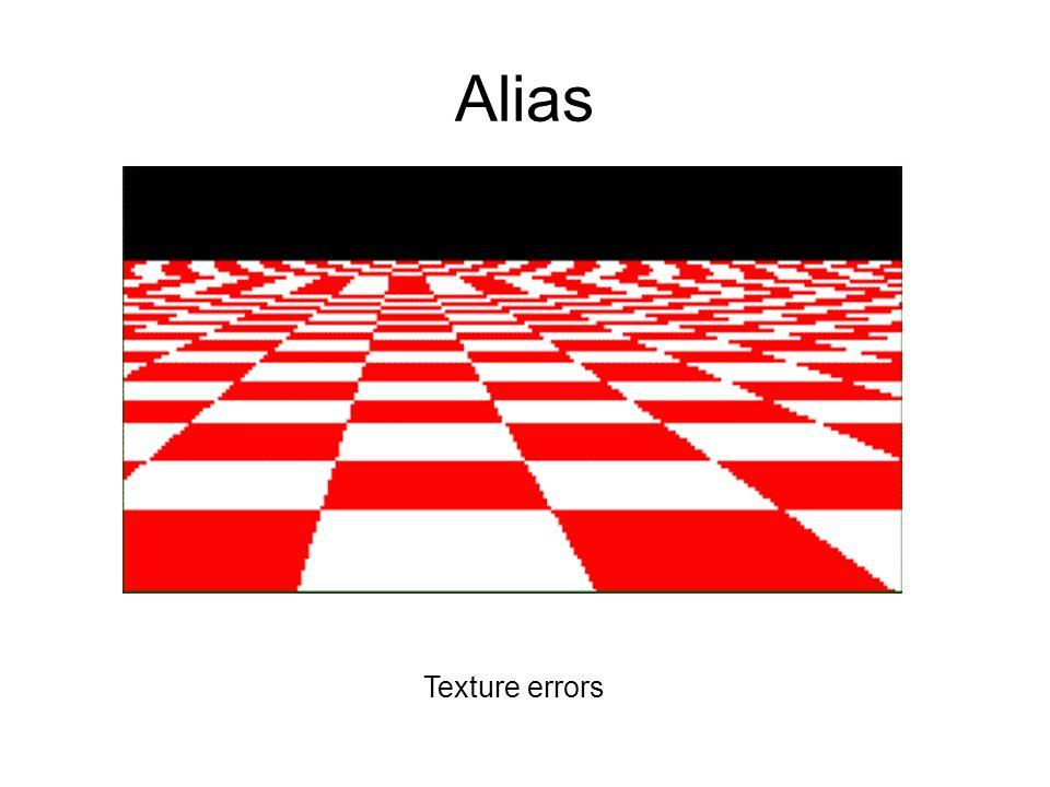 Alias Texture errors