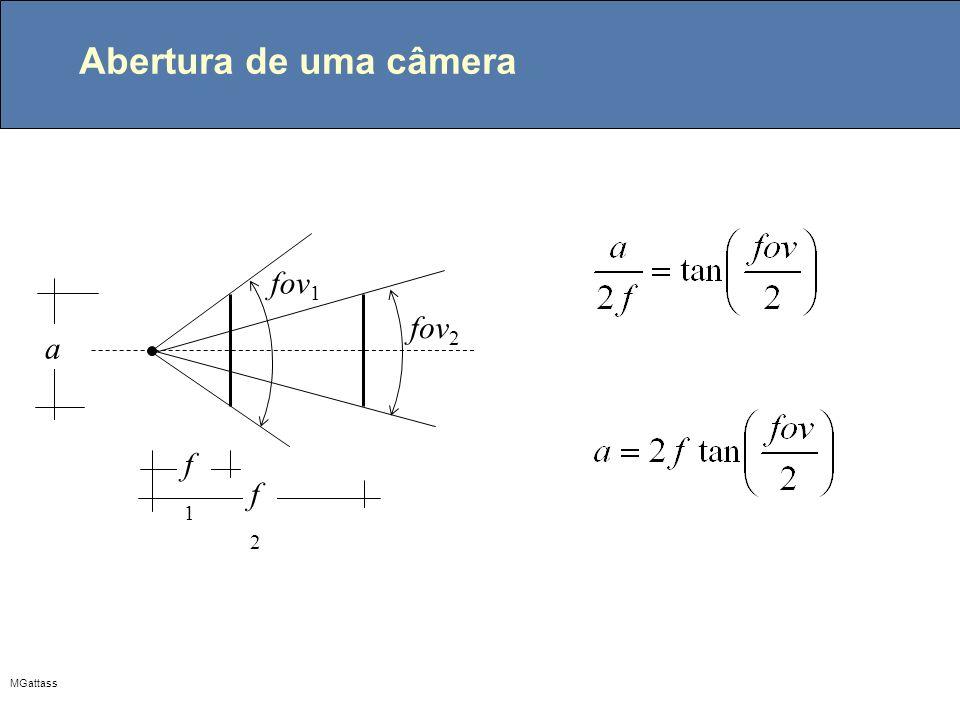 MGattass Abertura de uma câmera f1f1 f2f2 fov 1 fov 2 a