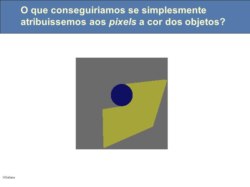MGattass O que conseguiriamos se simplesmente atribuissemos aos pixels a cor dos objetos?