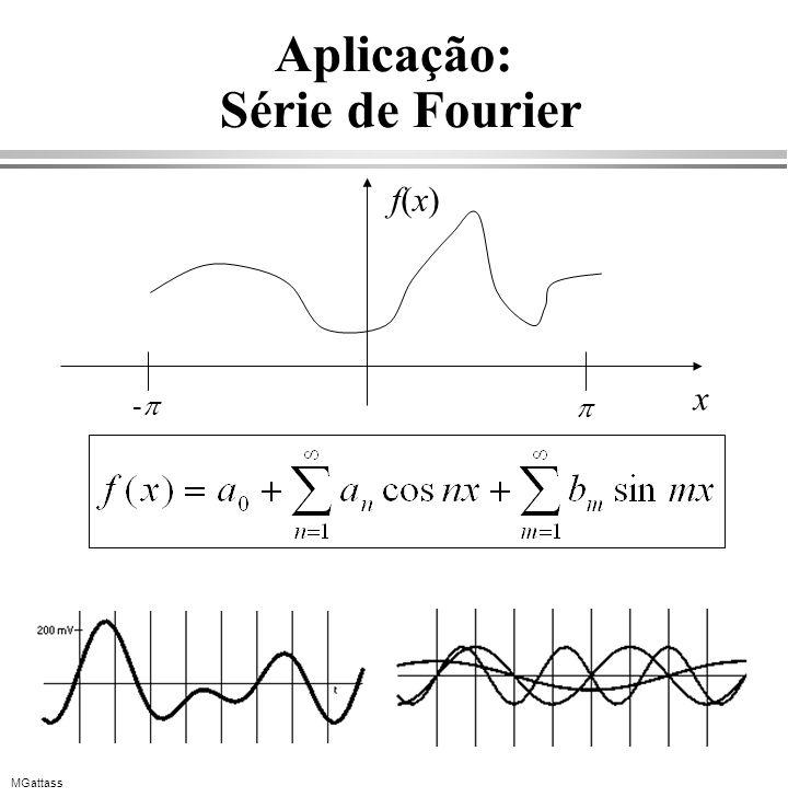 MGattass Aplicação: Série de Fourier x f(x)f(x) -