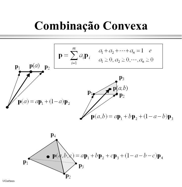 MGattass Combinação Convexa p1p1 p2p2 p3p3 p4p4 p1p1 p2p2 p(a)p(a) p1p1 p2p2 p3p3 p(a,b)