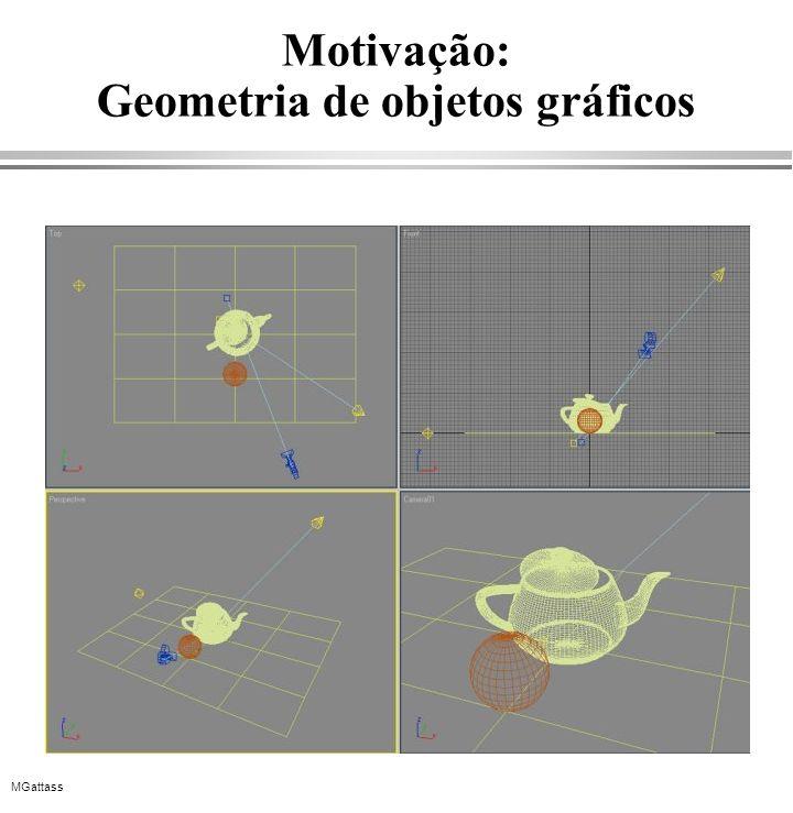 MGattass Motivação: Geometria de objetos gráficos