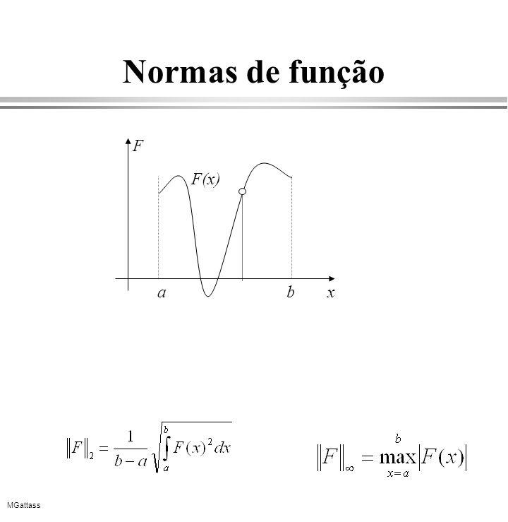 MGattass Normas de função F(x) ab x F