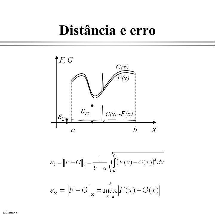 MGattass Distância e erro F(x) ab x F, G G(x) G(x) - F(x) 2