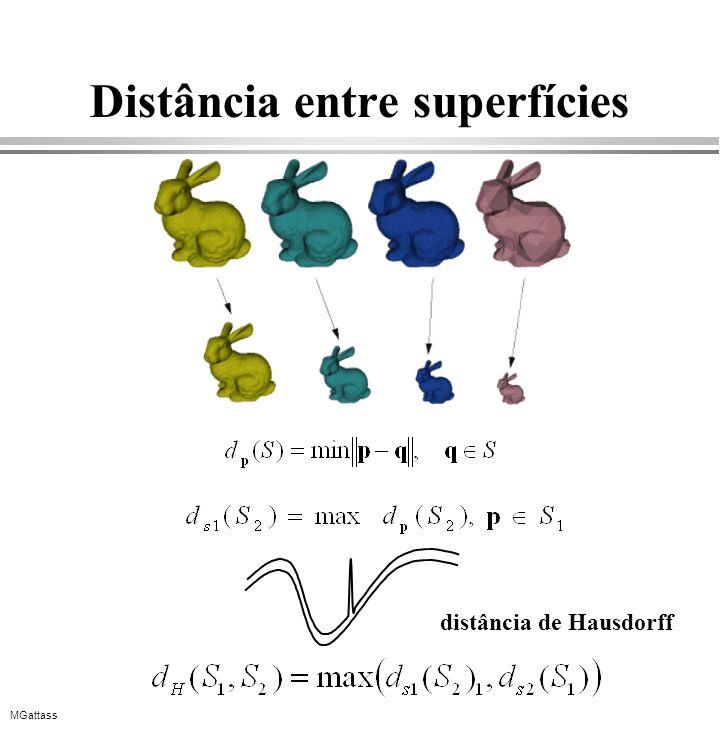 MGattass Distância entre superfícies distância de Hausdorff