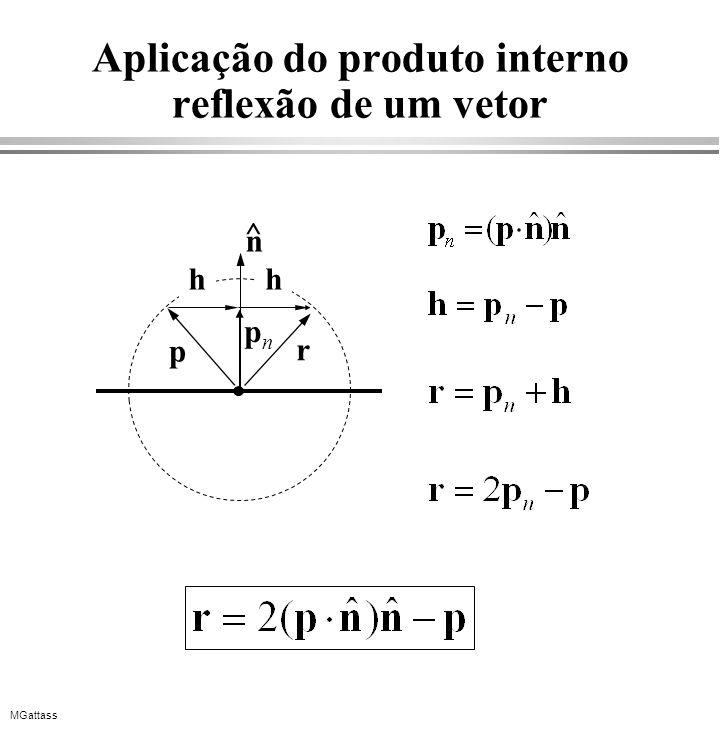 MGattass Aplicação do produto interno reflexão de um vetor p r hh pnpn n ^