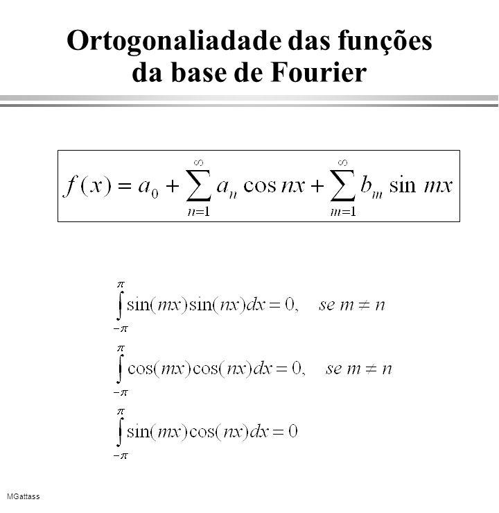 MGattass Ortogonaliadade das funções da base de Fourier