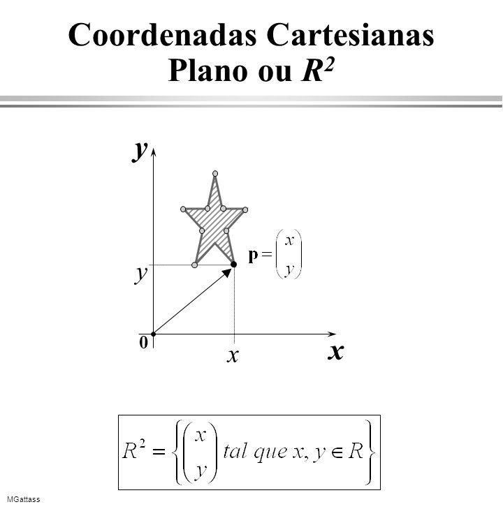 MGattass Aplicações do produto vetorial: áreas e normais p1p1 h Cálculo de ângulos Cálculo de áreas e normais p2p2 p3p3 v 13 v 12