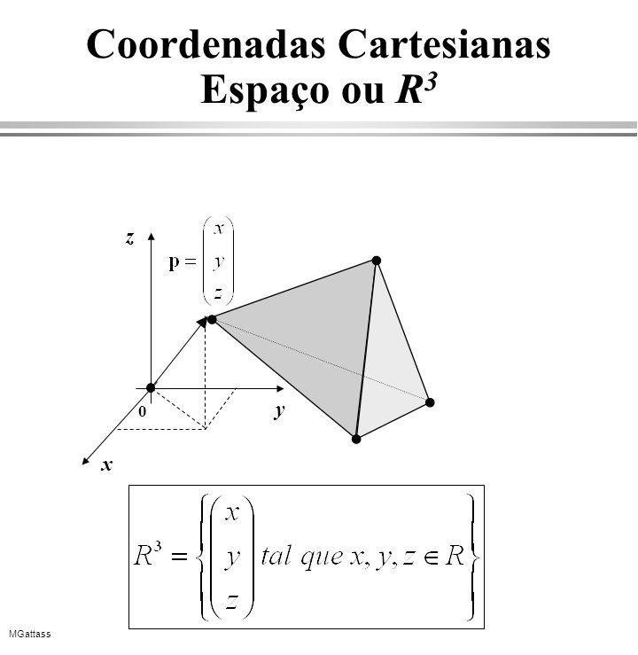 MGattass Coordenadas Cartesianas Espaço ou R 3 y x z 0
