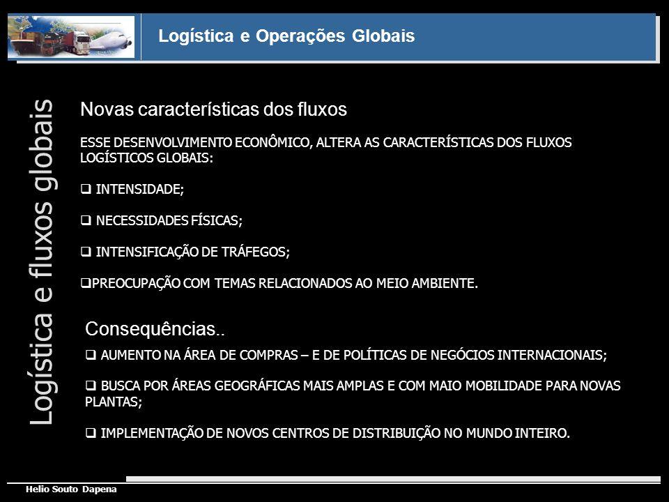 Logística e Operações Globais Helio Souto Dapena Novas características dos fluxos Logística e fluxos globais ESSE DESENVOLVIMENTO ECONÔMICO, ALTERA AS