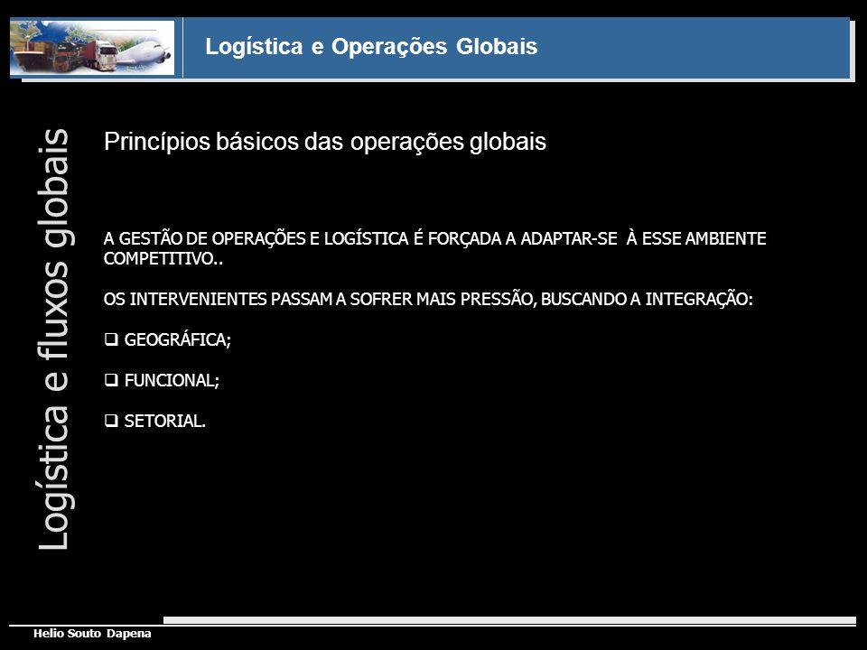 Logística e Operações Globais Helio Souto Dapena Princípios básicos das operações globais Logística e fluxos globais A GESTÃO DE OPERAÇÕES E LOGÍSTICA