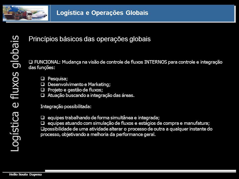 Logística e Operações Globais Helio Souto Dapena Princípios básicos das operações globais Logística e fluxos globais FUNCIONAL: Mudança na visão de co