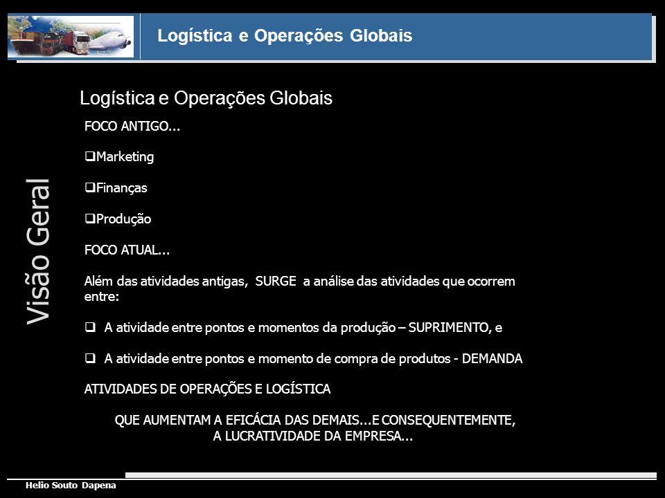 Logística e Operações Globais Helio Souto Dapena Logística e Operações Globais FOCO ANTIGO... Marketing Finanças Produção FOCO ATUAL... Além das ativi