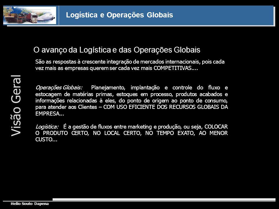 Logística e Operações Globais Helio Souto Dapena Forças da Globalização Tradicionalmente, logística e operações globais desenvolveram-se em áreas geográficas e eram controladas por áreas funcionais ( marketing ou produção).