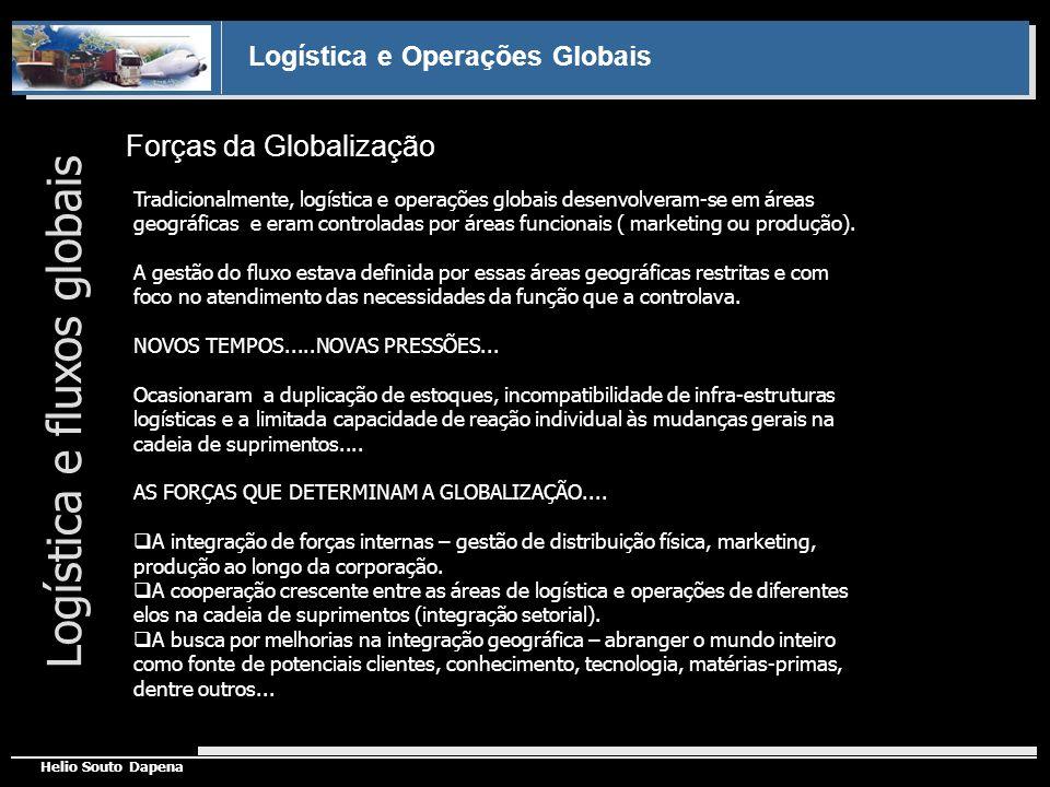 Logística e Operações Globais Helio Souto Dapena Forças da Globalização Tradicionalmente, logística e operações globais desenvolveram-se em áreas geog