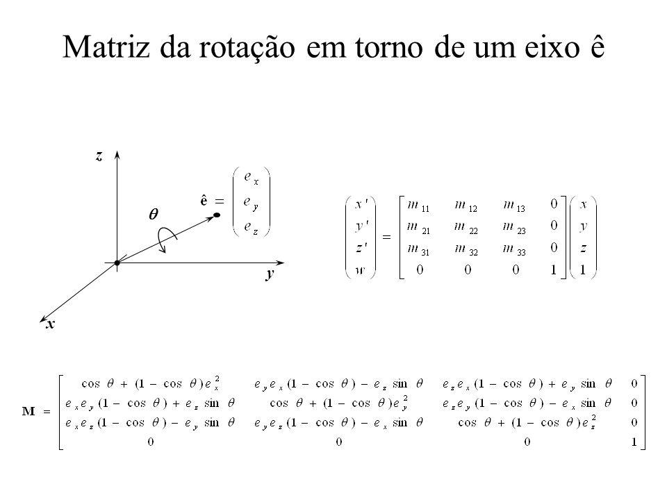 Matriz da rotação em torno de um eixo ê x y z
