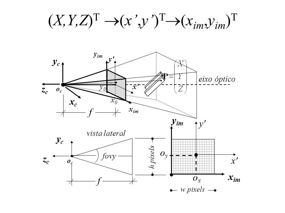 (x im,y im ) T (x,y) T x im y im x y 0 1 34 1 2 0 3 2 sxsx sysy p o oyoy oxox 5 Verificando:
