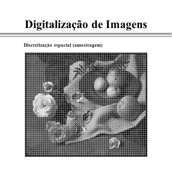 Digitalização de Imagens Discretização espacial (amostragem)