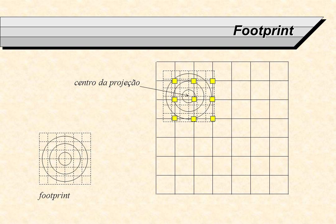 Footprint footprint centro da projeção