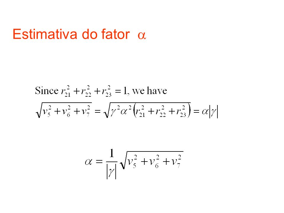 Estimativa do fator